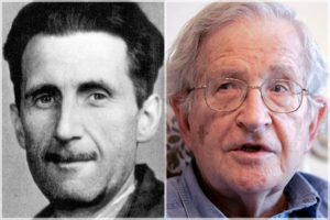 Nosso paradoxo de Orwell / Chomsky: Decifrar a Mídia do Duplipensar e o Tráfico do Governo sobre a Política Externa dos EUA